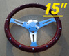 "15"" CLASSIC WOOD STEERING WHEEL"