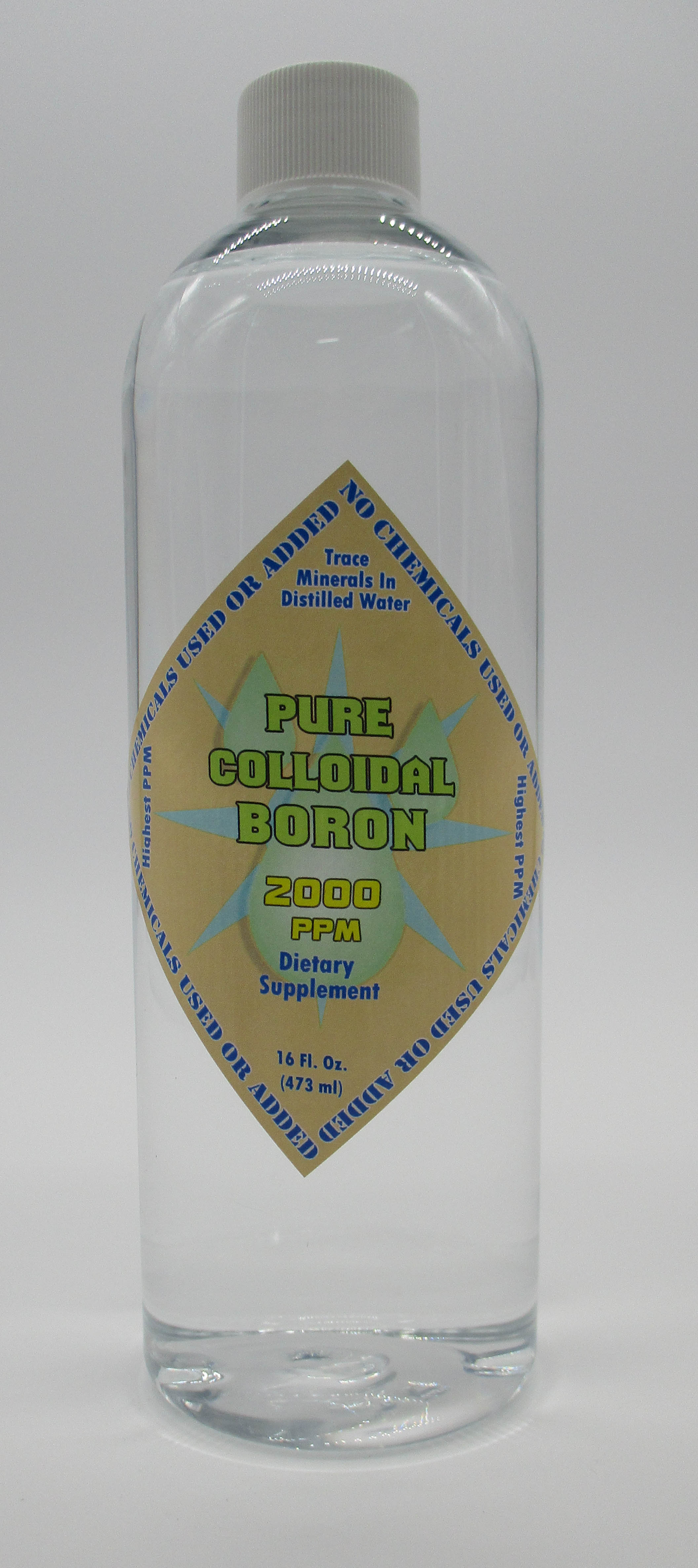 Pure Colloidal Boron 2000 PPM in a 16 Oz Bottle NO Chemicals
