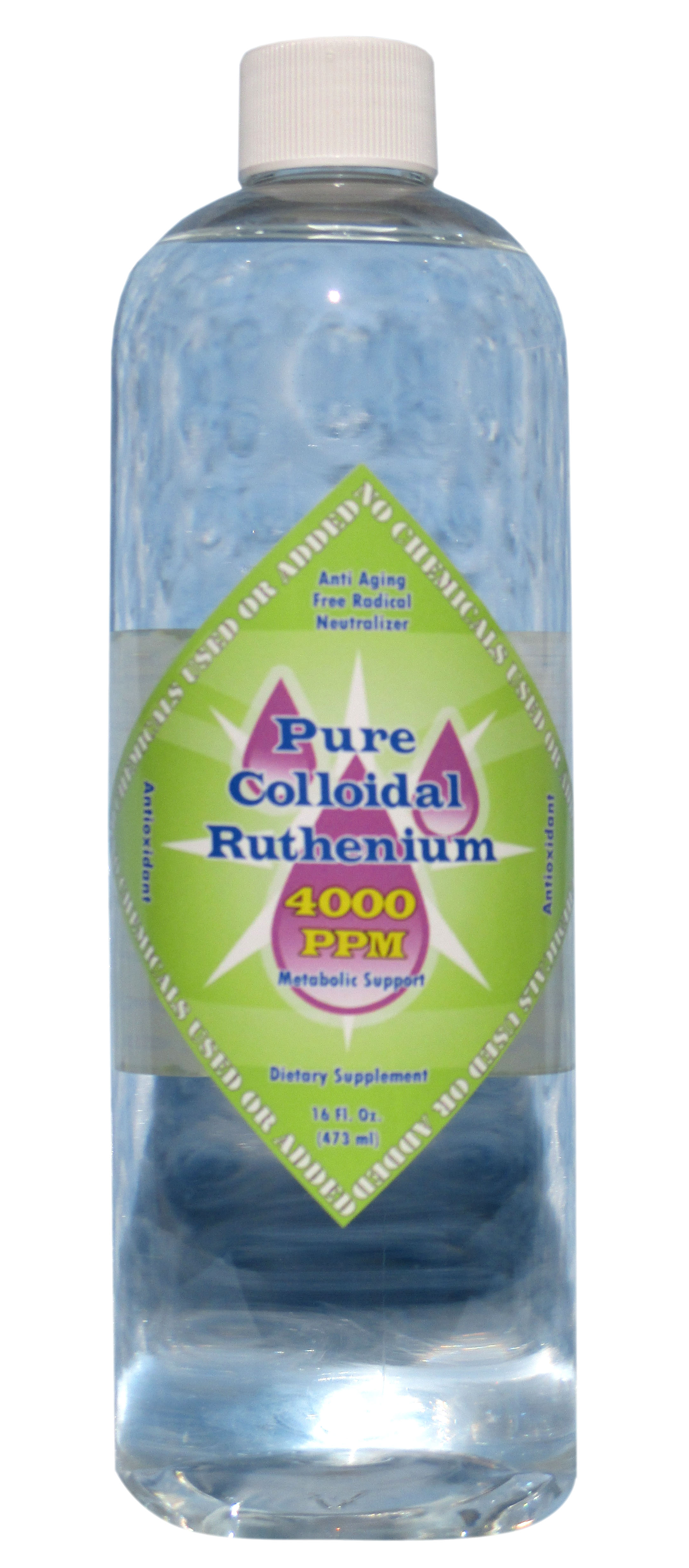 Colloidal Ruthenium 4000 PPM 16 Oz Bottle