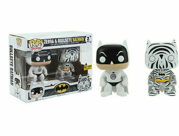 EXCLUSIVE: POP! Heroes: Bullseye Batman & Zebra Batman