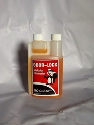Odor Lock is a safe, economical and effective way to deodorize. Odor Lock is a complex blend of safe, biodegradable ingredients that work through several actions. This leads to one result, the complete elimination of odors. Odor Lock contains inhibitors that will control odors long after application.  Odor Lock is available in the concentrated form 16oz sizes.