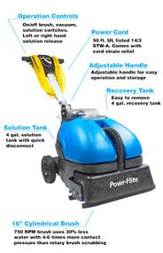 Power-Scrub Compact Scrubber