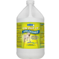 One application of Un-Duz-It Unleashed does it all! This unique breakthrough solution combines oxidizers with enzymes and odor encapsulants to remove even the toughest pet urine odors and stains. Effective on virtually any surface, including hard porous surfaces.