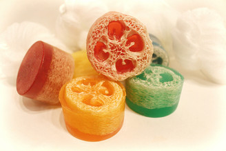 Small Loofa Glycerin Soap