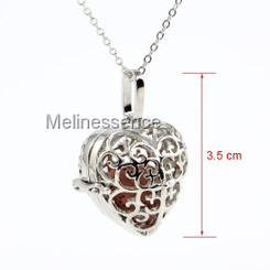 HEART LOCKET AROMATHERAPY NECKLACE