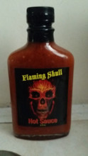 Flaming Skull Hot Sauce Great taste and all the heat . Ingredients: Chocolate Reaper, Chocolate Dougla, Chocolate Moruga, 7 Pot Primo, Jolokia (Ghost), Orange Habanero, water, Distilled vinegar, xanthan gum, Onion Powder, Garlic Powder, Sodium Benzoate.