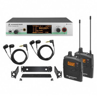 <h2>NEW PROMOTIONAL LOWER PRICE!!</h2> <h3>What's in the box?</h3> <ul> <li>2 EM 100 G3 rack-mount receiver</li> <li>2 SK 100 G3 bodypack transmitter</li> </ul>