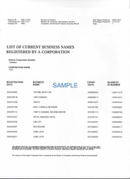 Business Names List