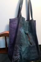 Cotton Canvas Tie Dyed Big Bag - Mist