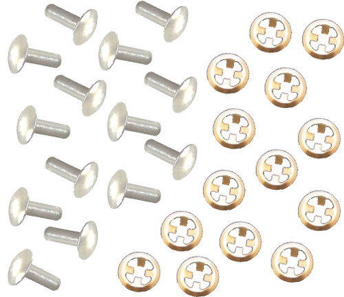 Allis Chalmers Side Nameplate Rivets & Stainless Clips Set - DJS016