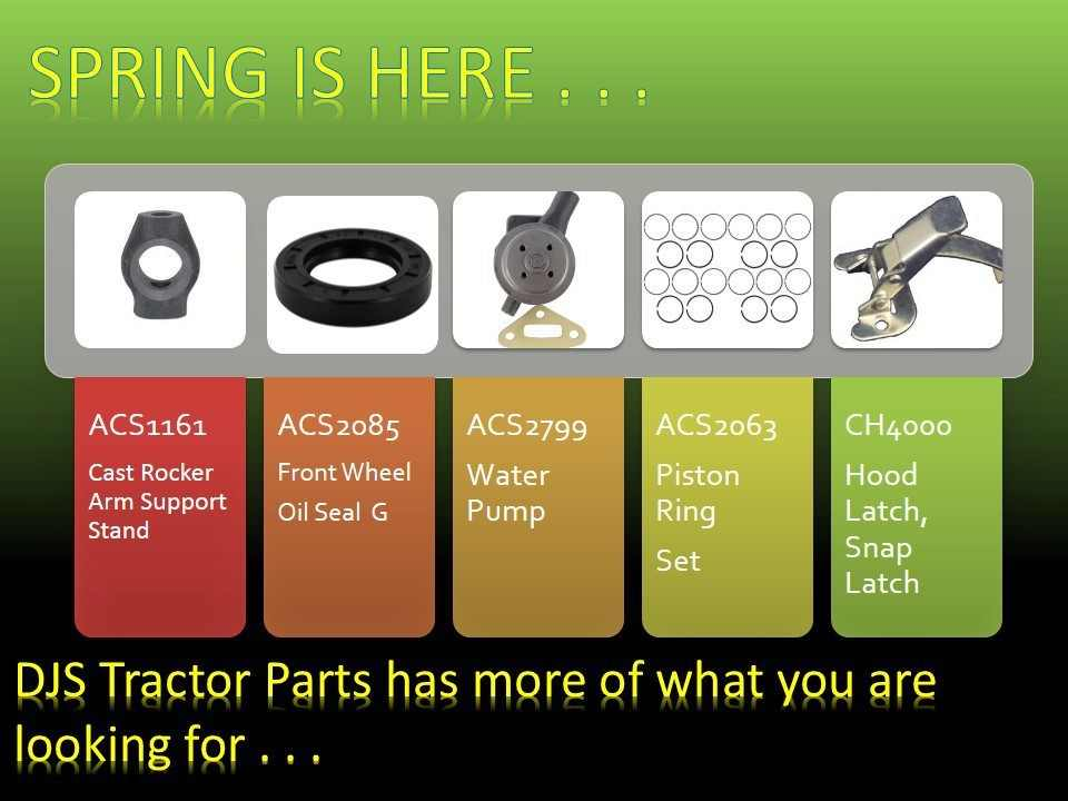 DJS Tractor Parts, More of the parts you are Looking For
