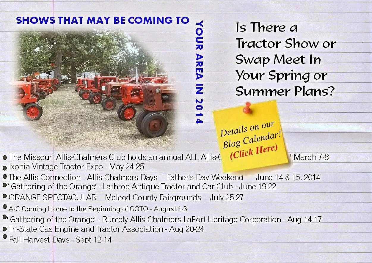 Allis Chalmers Tractor Shows 2014