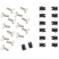 Allis Chalmers Side Nameplate Rivets and Steel Clips Set - DJS015