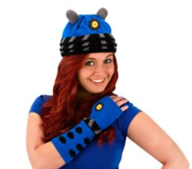 Doctor Who Dalek Knit Beanie: Blue