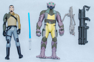 Star Wars Rebels 4-Inch Kanan Jarrus and Zeb Loose Action Figure Set