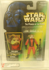Star Wars POTF Nien Nunb **AFA GRADED 8.5**ERROR**