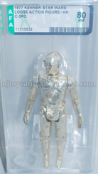 Star Wars Vintage 1977 Loose C-3PO AFA Graded 80 NM
