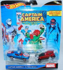 Hot Wheels Marvel Comic Hero 2-Pk: Captain America vs Red Skull with Mini Comic