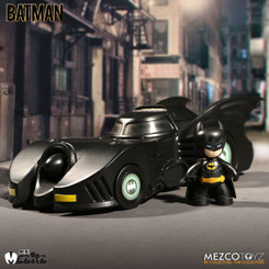 Batman and Batmobile Mini Mezitz Vehicle and Figure Set
