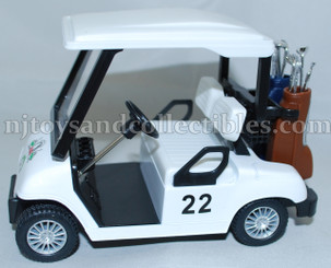 Diecast Metal Vehicle: Worldwide Golf Cart with Pull Back Action