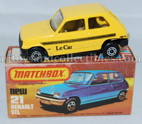 Matchbox #21 Renault 5TL Diecast Vehicle
