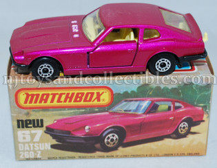 Matchbox #67 Datsun 260Z Diecast Vehicle