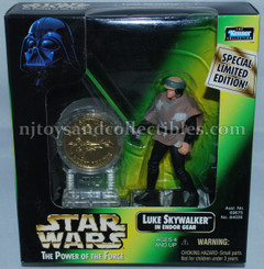 Star Wars POTF2 Luke  Skywalker Endor with Coin