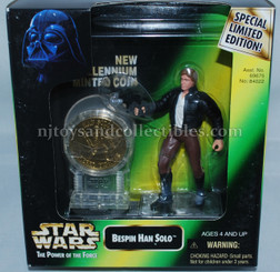 Star Wars POTF2 Millennium Han Solo with Coin & Text