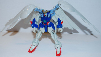 HG 1/144 XXGX-00W0 Wing Gundam Zero Custom Loose Action Figure