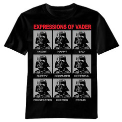 Star Wars T-Shirt: Expressions of Darth Vader T-shirt