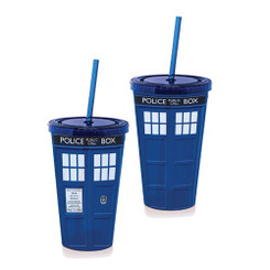 Doctor Who Tardis Lidded Tumbler with Straw