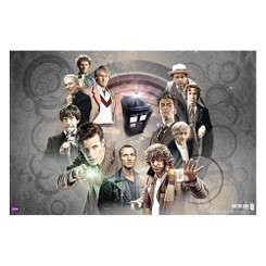 Doctor Who Doctors Collage Poster