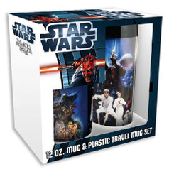 Star Wars 12 oz. Ceramic Mug & 16 oz. Plastic Travel Mug Set