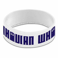 Doctor Who Wristband: Whovian White Rubber