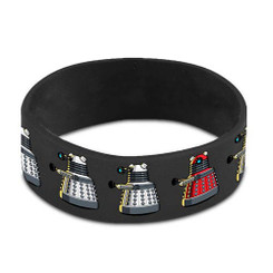 Doctor Who Wristband: Dalek Repeat Gray