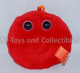 Giant Microbes Red Blood Cell Plush Keychain