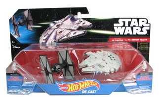 Star Wars Hot Wheels Starship 2-Pack: TIE Fighter vs Millennium Falcon