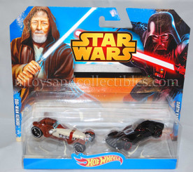 Star Wars Hot Wheels DieCast Vehicle 2-Pack: Obi-Wan and Darth Vader