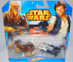 Star Wars Hot Wheels DieCast Vehicle 2-Pack: Han Solo and Chewbacca