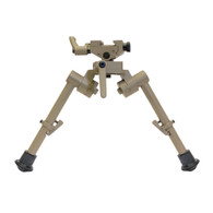 "Flat Dark Earth 7""-9"" S7 FDE Bipod with Rubber Feet"