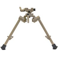 "Flat Dark Earth 9""-12"" S7 FDE Bipod with Rubber Feet"