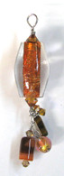 African Trade Bead Dangle Pendant