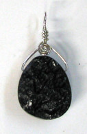 Black Moldavite Drop Pendant
