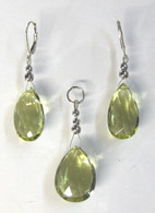 """Lemon Drop"" Lemon Topaz - Pendant & Earring Set"