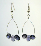 Iolite Triple Faceted Earrings