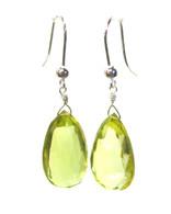 Lemon Topaz Faceted Drop Earrings