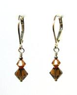 Copper Swarovski Earrings