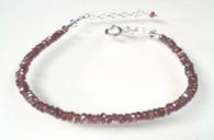 Garnet Silver Treated Bracelet