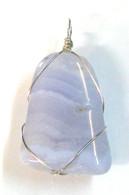 Blue Lace Agate Wrap Pendant