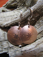 Chartres Labyrinth Copper Earrings